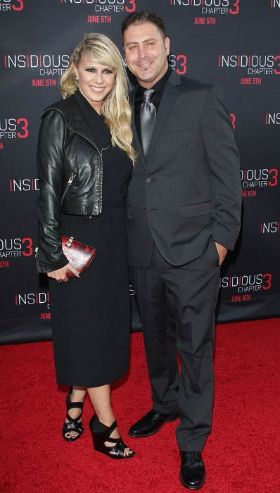 Jodie Sweetin and Justin Hodak at the premiere of Insidious Chapter 3 in June 2015