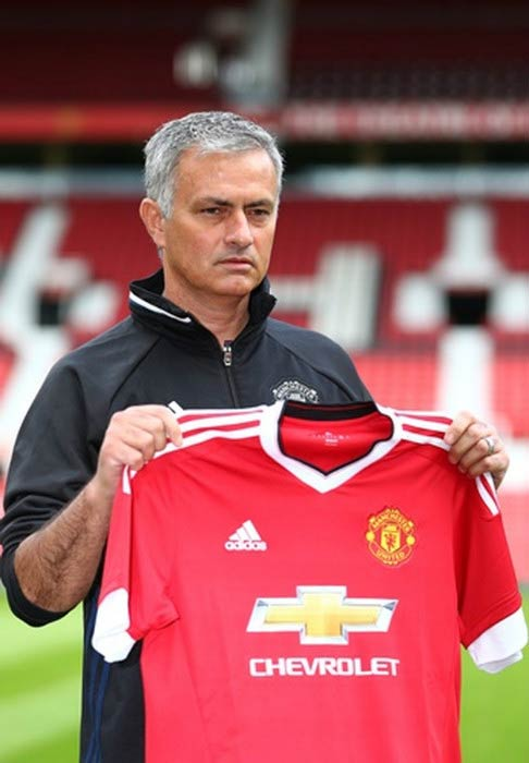 Jose Mourinho at the Old Trafford Stadium in Manchester in July 2016