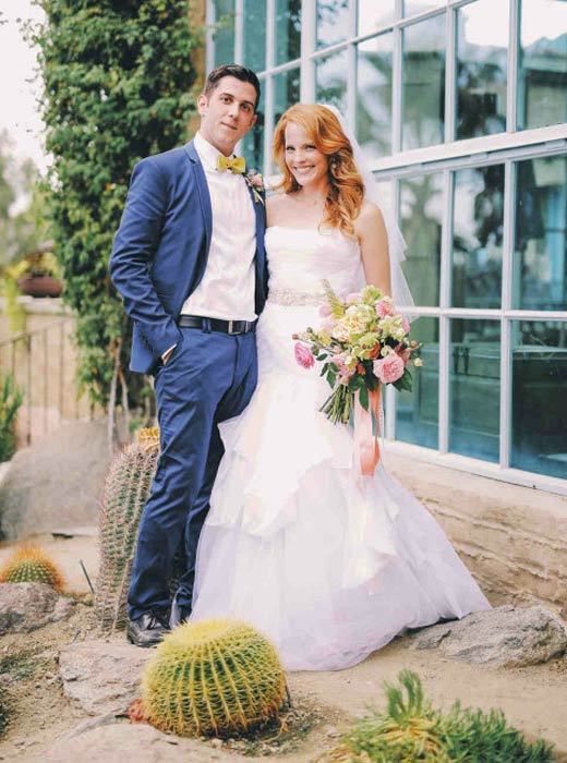 Katie Leclerc and Brian Habecost during their wedding shoot done in Palm Springs