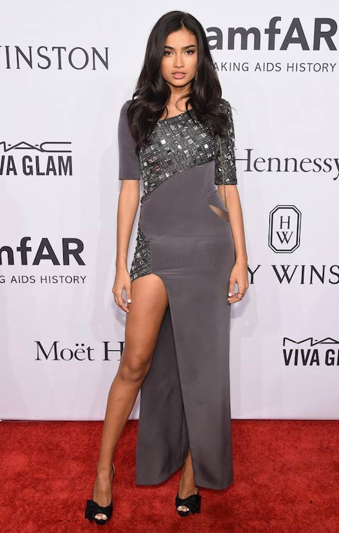 Kelly Gale at the 2016 amfAR New York Gala