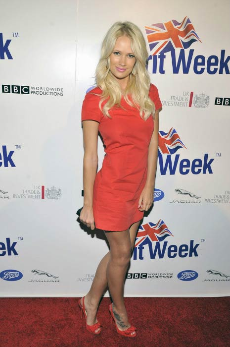 Lauren Bennett at the official launch of Britweek 2012 in Los Angeles