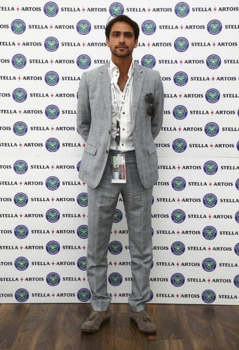 Luke Pasqualino at the Wimbledon Lawn Tennis Championships in July 2016