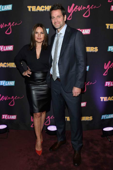 "Mariska Hargitay and Peter Hermann during the ""Younger"" Season 2 and ""Teachers"" Series Premiere in January 2016"
