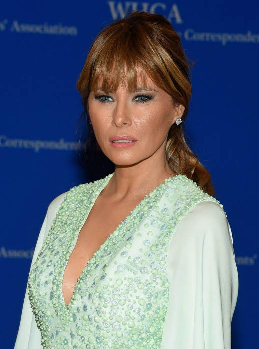 Melania Trump at the Annual White House Correspondents' Association Dinner in April 2015