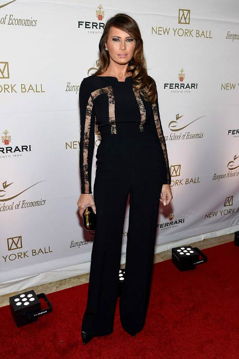 Melania Trump at The New York Ball: The 20th Anniversary Benefit For The European School Of Economics in November 2014