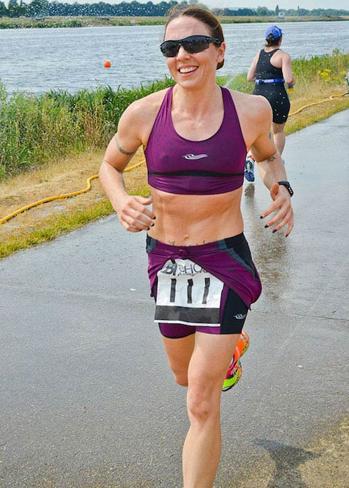 Melanie Chisholm remains in shape by competing in triathlons