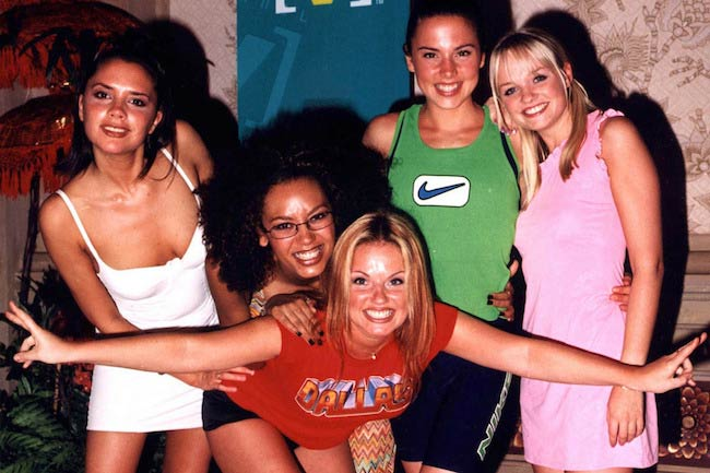 Melanie Chisholm with fellow Spice Girls
