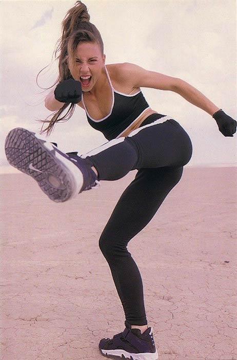Melanie Chisholm's high kick