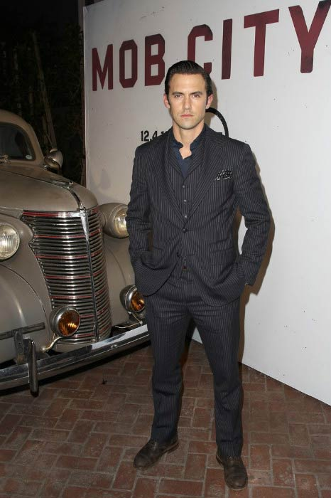 Milo Ventimiglia at the TNT's 'Mob City' screening after party in November 2013