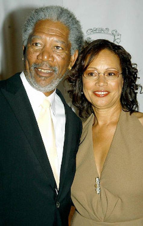 Morgan Freeman with his former wife Myrna-Colley Lee in better times