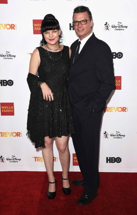 Pauley Perrette and Thomas Arklie at the TrevorLIVE LA Event in December 2015
