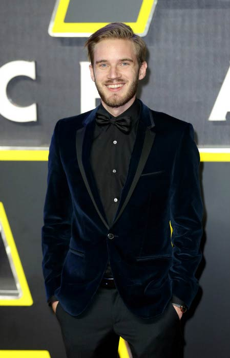 "PewDiePie at the European Premiere of ""Star Wars: The Force Awakens"" in London in December 2015"