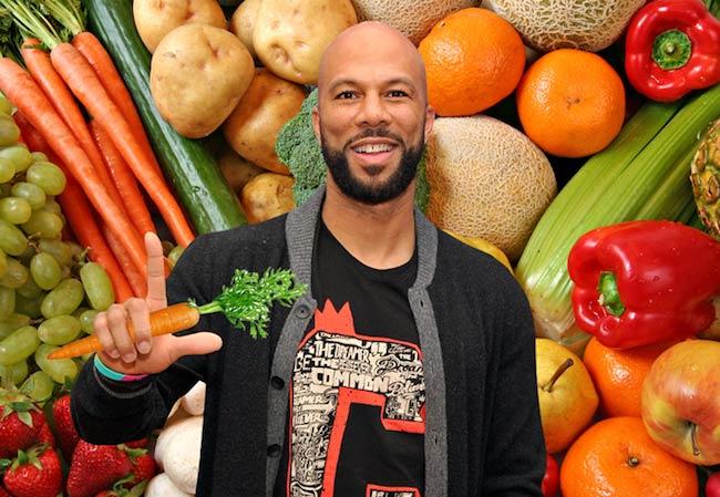 Rapper Common eats vegetables