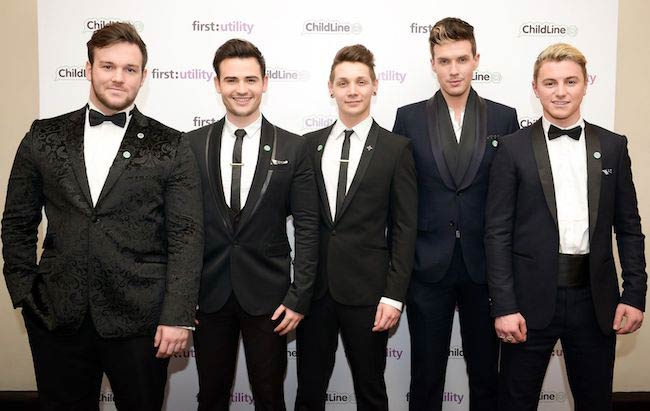 Richard Hadfield with Collabro band