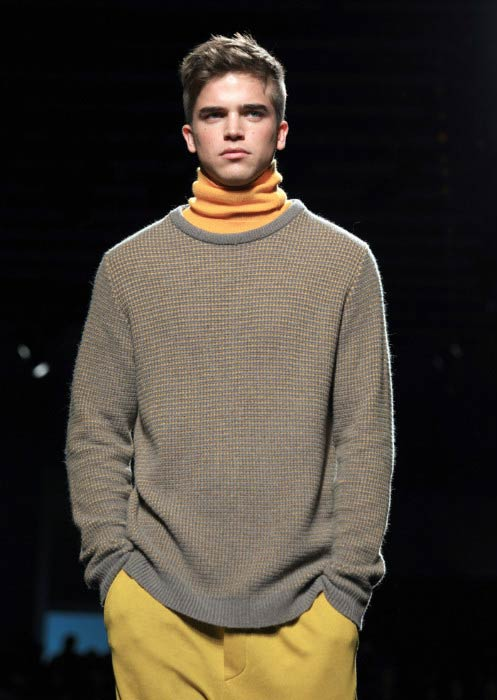 River Viiperi at the Marc Jacobs fashion show during New York Fashion Week in 2015