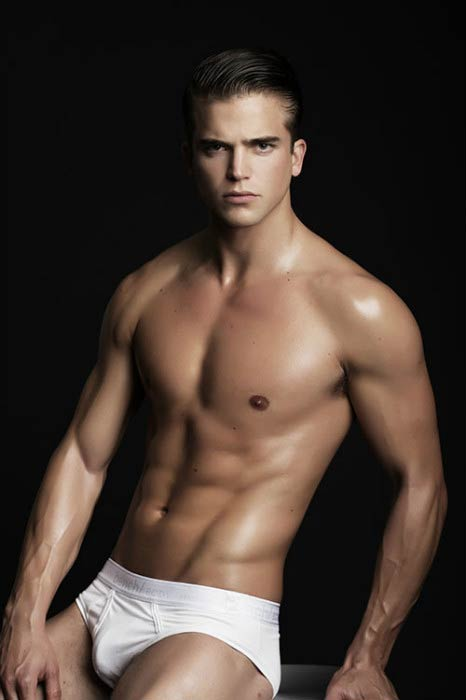 River Viiperi shirtless for the Red Charity Gala photoshoot in 2015