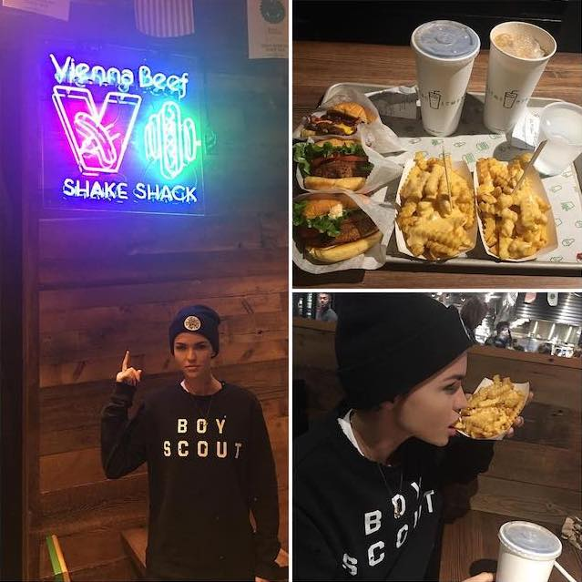 Ruby Rose fulfilling her cravings