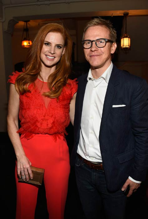 Sarah Rafferty and Aleksanteri Olli-Pekka Seppala at the Entertainment Weekly Celebration before SAG Awards in January 2016