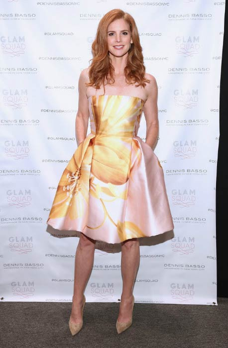Sarah Rafferty at the Dennis Basso Fashion Show during 2016 New York Fashion Week