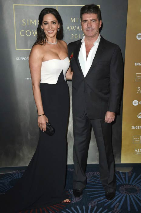Simon Cowell and Lauren Silverman at the Music Industry Trust Awards in November 2015