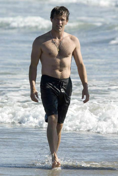 Stephen Moyer shirtless at the Venice Beach, California in August 2010