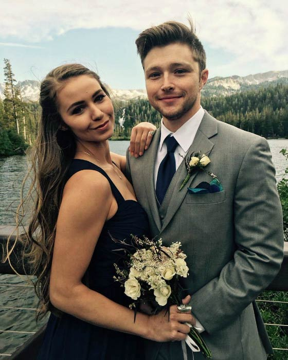 Sterling Knight and Ayla Kell in October 2016