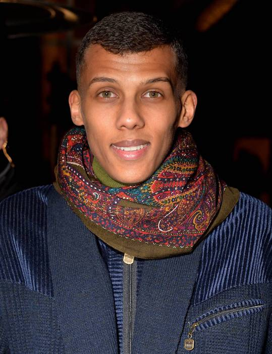 Stromae at the Men's Fashion Show Valentino during Ready to Wear Fall Winter 2015 / 2016 Fashion Week
