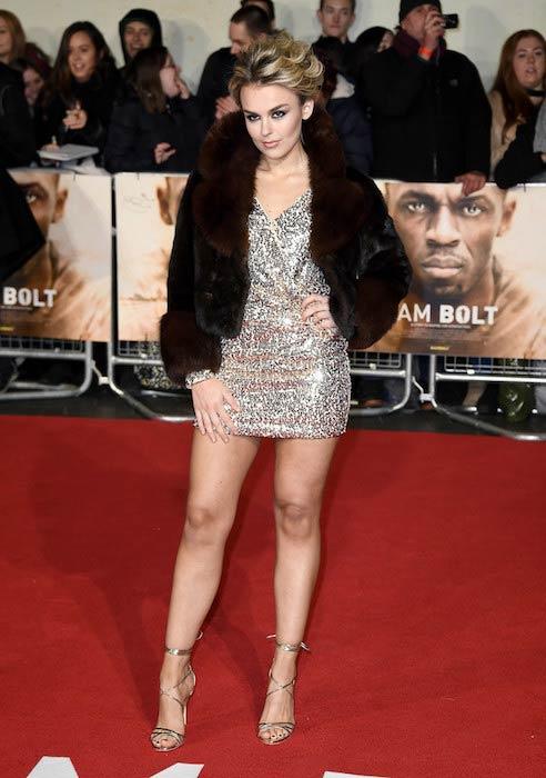 Tallia Storm at 'I Am Bolt' world premiere in November 2016