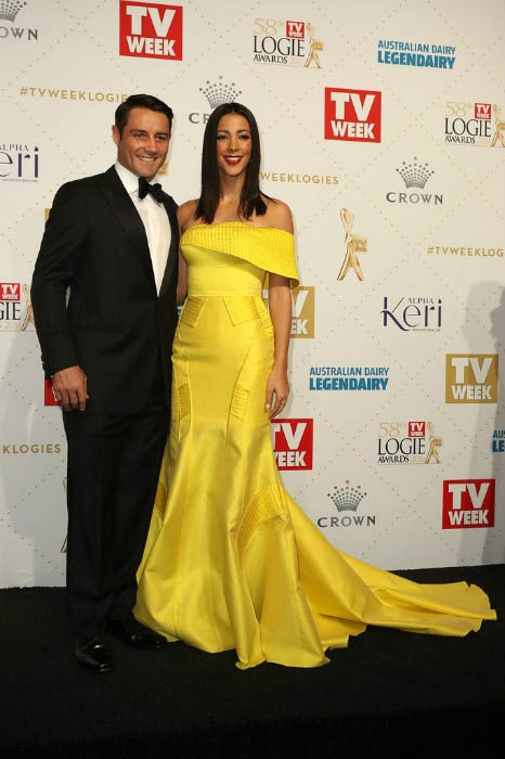 Tara Rushton and Cooper Cronk at the Logie Awards 2016