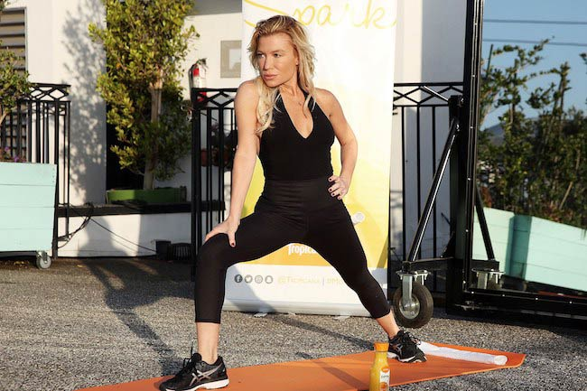 Tracy Anderson exercising outdoors