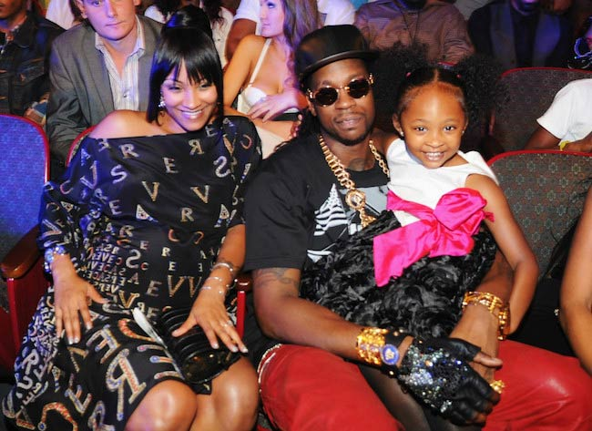 2 Chainz with wife and daughter at the BET Hip Hop Awards 2012