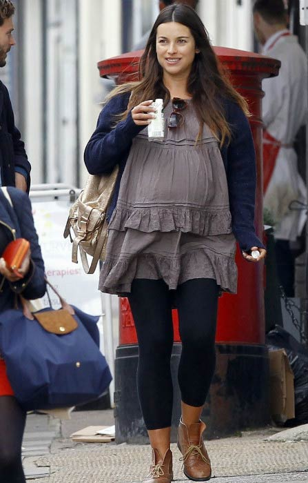 Amelia Warner during a shopping trip in London