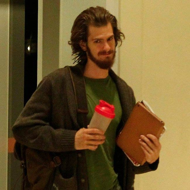 Andrew Garfield on the set of Silence (2016)