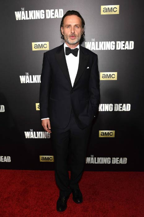 "Andrew Lincoln at ""The Walking Dead"" Season 6 Fan Premiere in October 2015"