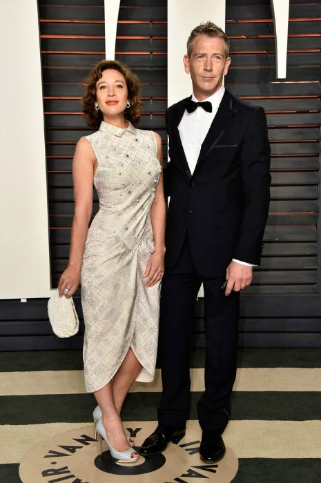 Ben Mendelsohn and Emma Forrest at the Vanity Fair Oscar Party 2016