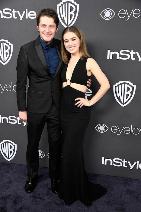 Brett Dier and Haley Lu Richardson at the 18th Annual Post Golden Globes Party in January 2017