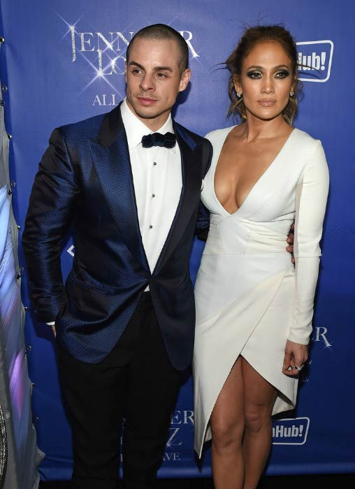 "Casper Smart and Jennifer Lopez at the after party for her residency ""JENNIFER LOPEZ: ALL I HAVE"" in January 2016"