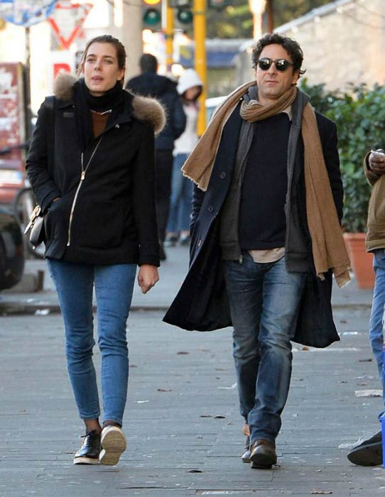 Charlotte Casiraghi and Lamberto Sanfelice in the streets of Rome in 2016