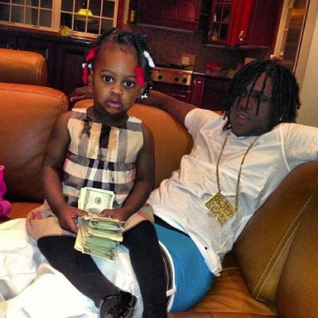 Chief Keef with his first baby daughter KayKay