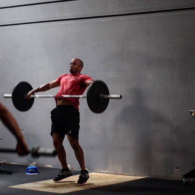 Chris Sainsbury lifting weight