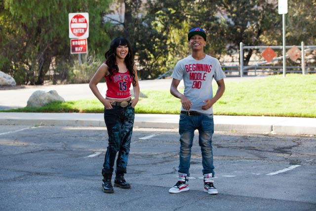 Cymphonique Miller and Jacob Latimore while shooting for music video, Nobody Like You