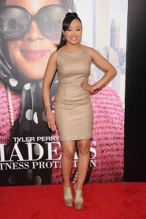 Cymphonique Miller at Tyler Perry's Madea's Witness Protection premiere in June 2012