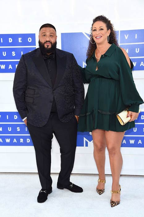 DJ Khaled and Nicole Tuck at the MTV Video Music Awards 2016