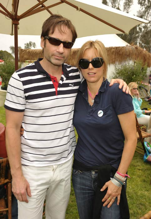 David Duchovny and Tea Leoni at A Time For Heroes Celebrity Picnic event in June 2010