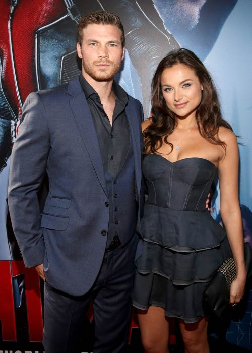 Derek Theler and Christina Ochoa at the Marvel's Ant-Man world premiere in June 2015