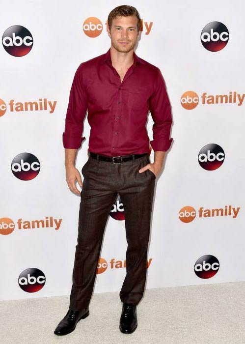 Derek Theler at the TCA Summer Press Tour of Disney ABC Television Group in August 2015
