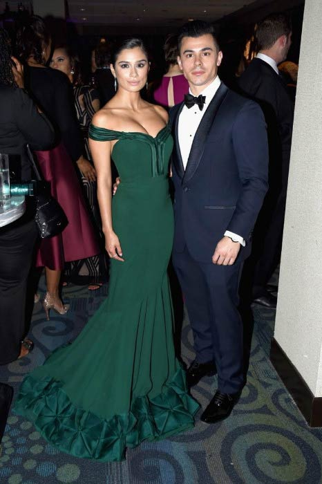 Diane Guerrero and Joseph Ferrera at the 2016 White House Correspondents' Dinner Pre-Party