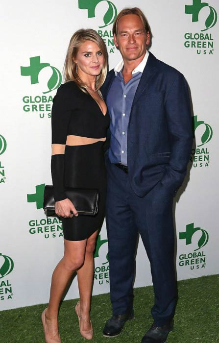 Eliza Coupe and Darin Olien at Global Green USA's 11th Annual Pre-Oscar party in February 2014