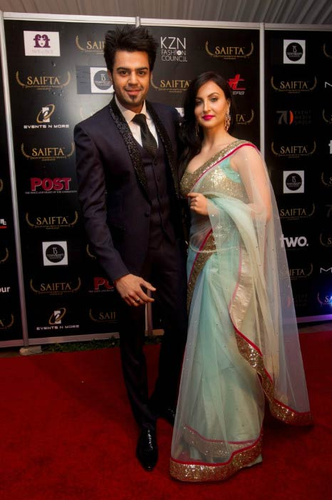 Elli Avram and Manish Paul at the South Africa Indian Films & Television Awards in 2013