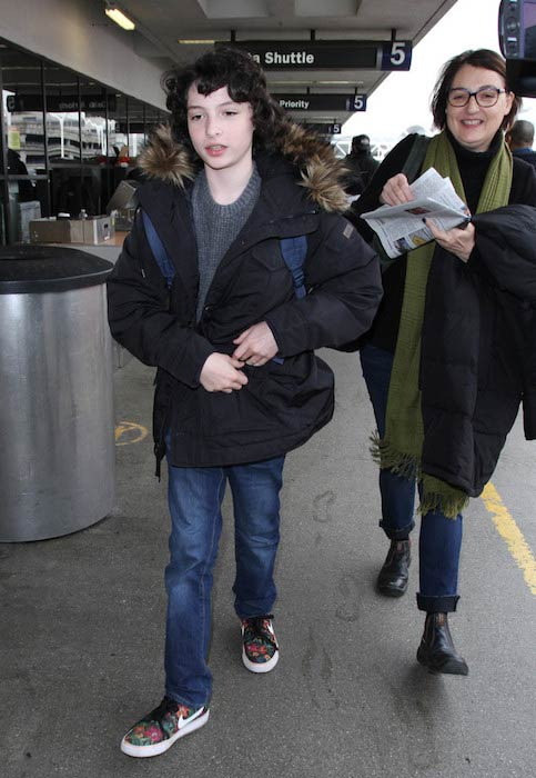 Finn Wolfhard was seen at LAX in January 2017